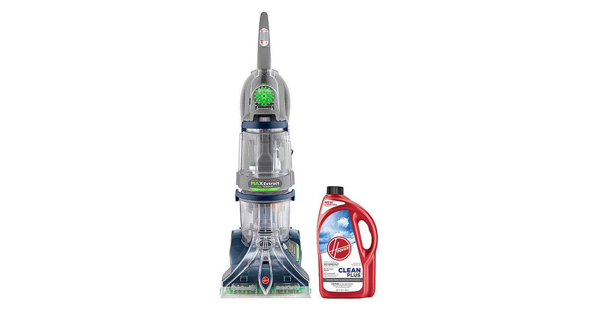 Hoover F7452900PC Max Extract Dual V All Terrain Hardwood Floor and Carpet Cleaner image