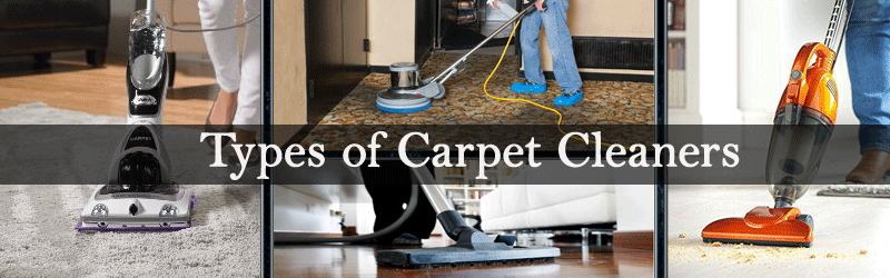 Types of Carpet Cleaners Image