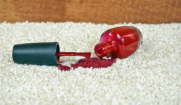 How to get nail polish out of carpet image