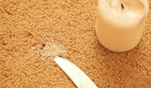 How to get wax out of carpet image