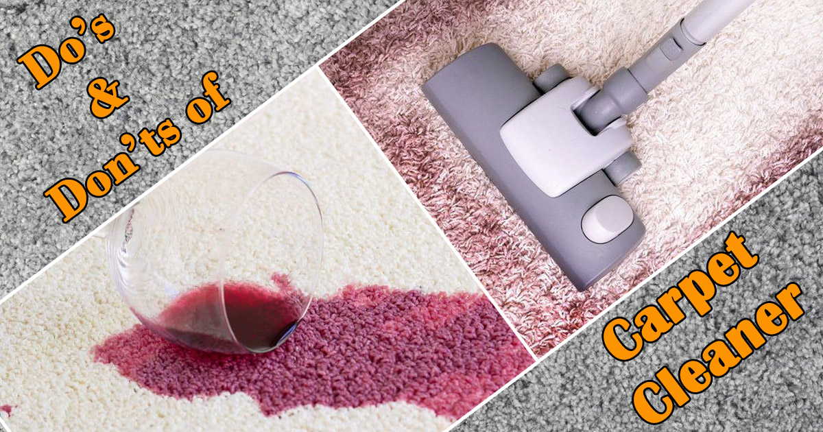 Do's and Don'ts of Carpet Cleaning image