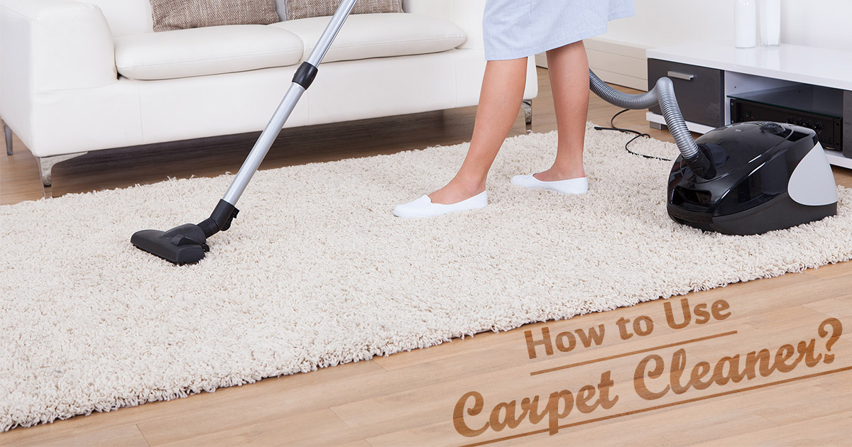 How to use a Carpet Cleaner Machine image