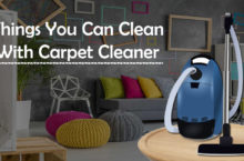What are the things you can clean with your Carpet Cleaner?